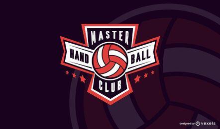 Plantilla de logotipo de club de balonmano