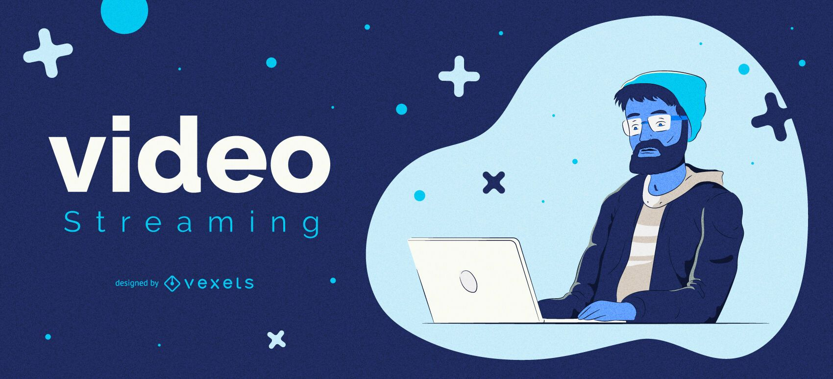 Video Streaming Character Cover Design