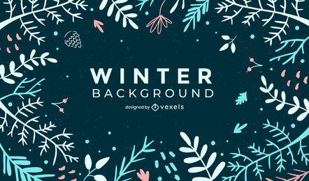 Diseño de fondo de invierno