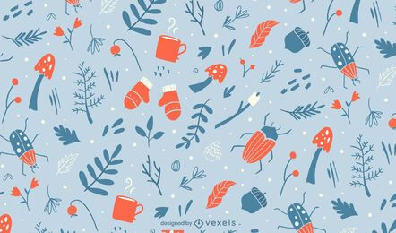 Winter elements pattern design