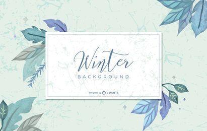 Desenho de fundo aquarela de inverno