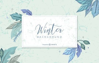 Winter watercolor background design