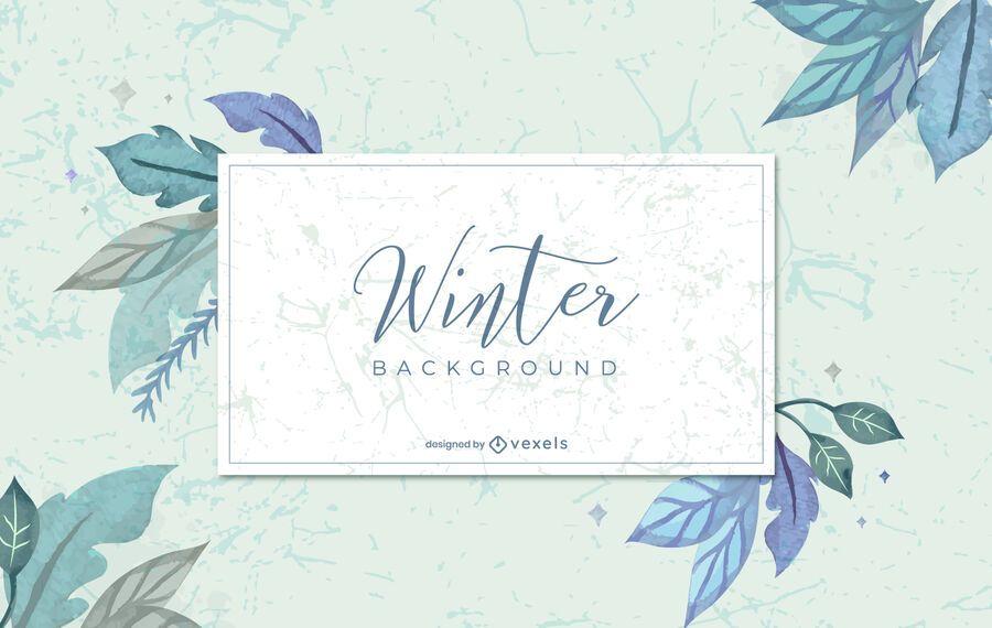 Diseño de fondo de acuarela de invierno