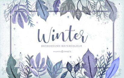 Diseño de fondo de invierno acuarela