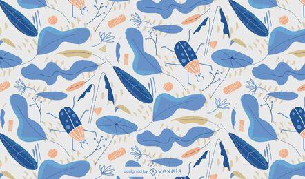 Winterblaues Musterdesign