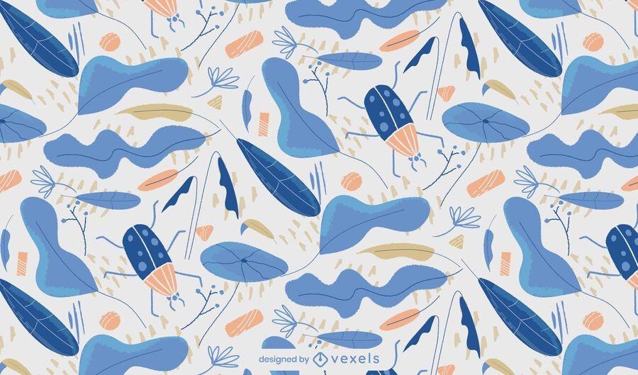 Desenho de padrão azul de inverno