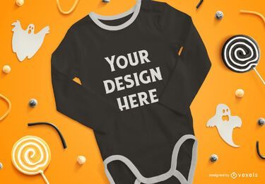 Onesie halloween mockup composition