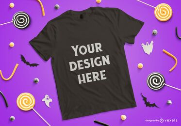 Halloween t-shirt mockup composition