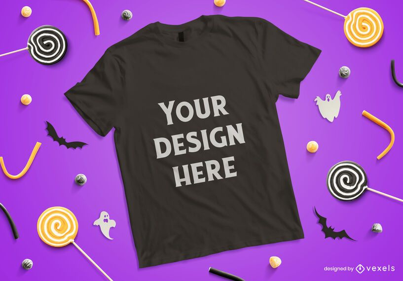 Halloween t-shirt mockup composition