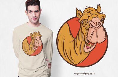 Diseño de camiseta con cara de camello