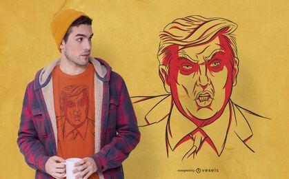Diseño de camiseta de Trump enojado