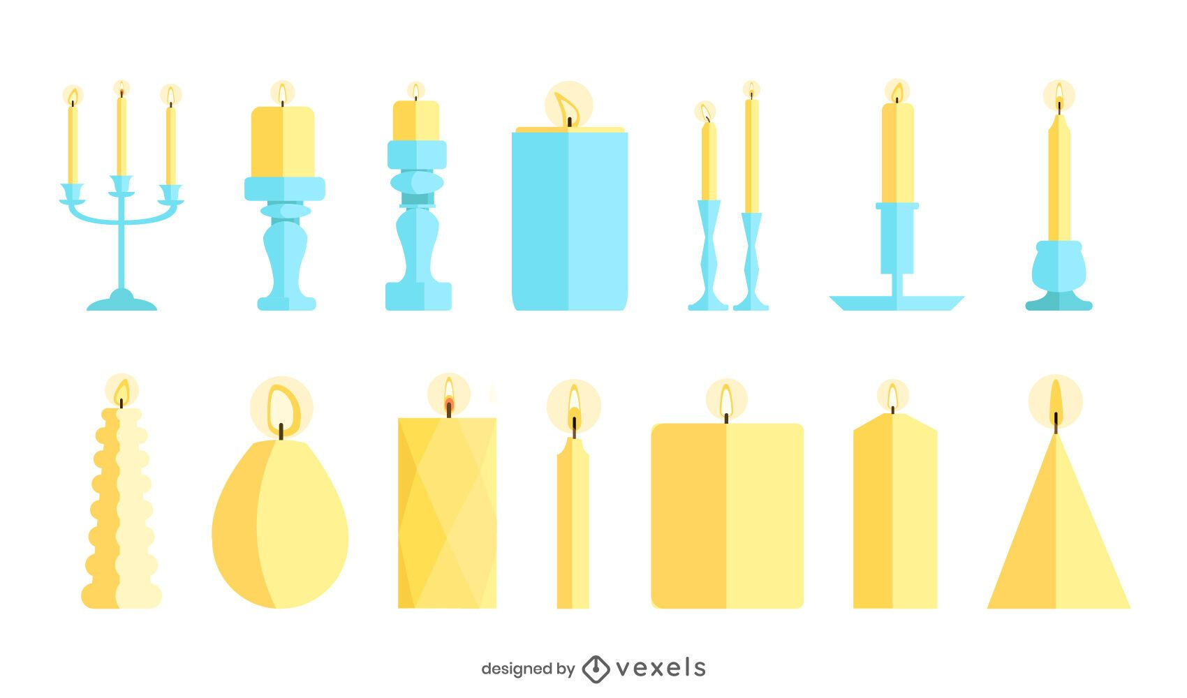 Flat Design Candle Pack