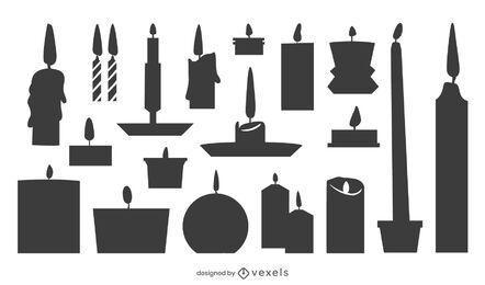 Pacote de design da silhueta da vela