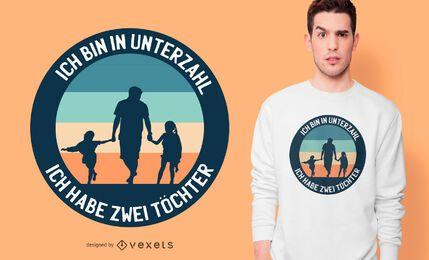 Design alemão do t-shirt do pai da filha