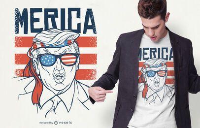 Merica Trump Design de t-shirt