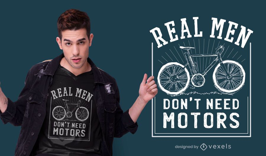 Real Men Bike T-shirt Design