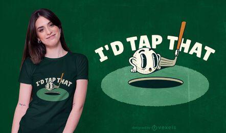 Design engraçado de camiseta de golfe