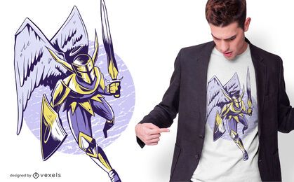 Diseño de camiseta Knight Angel