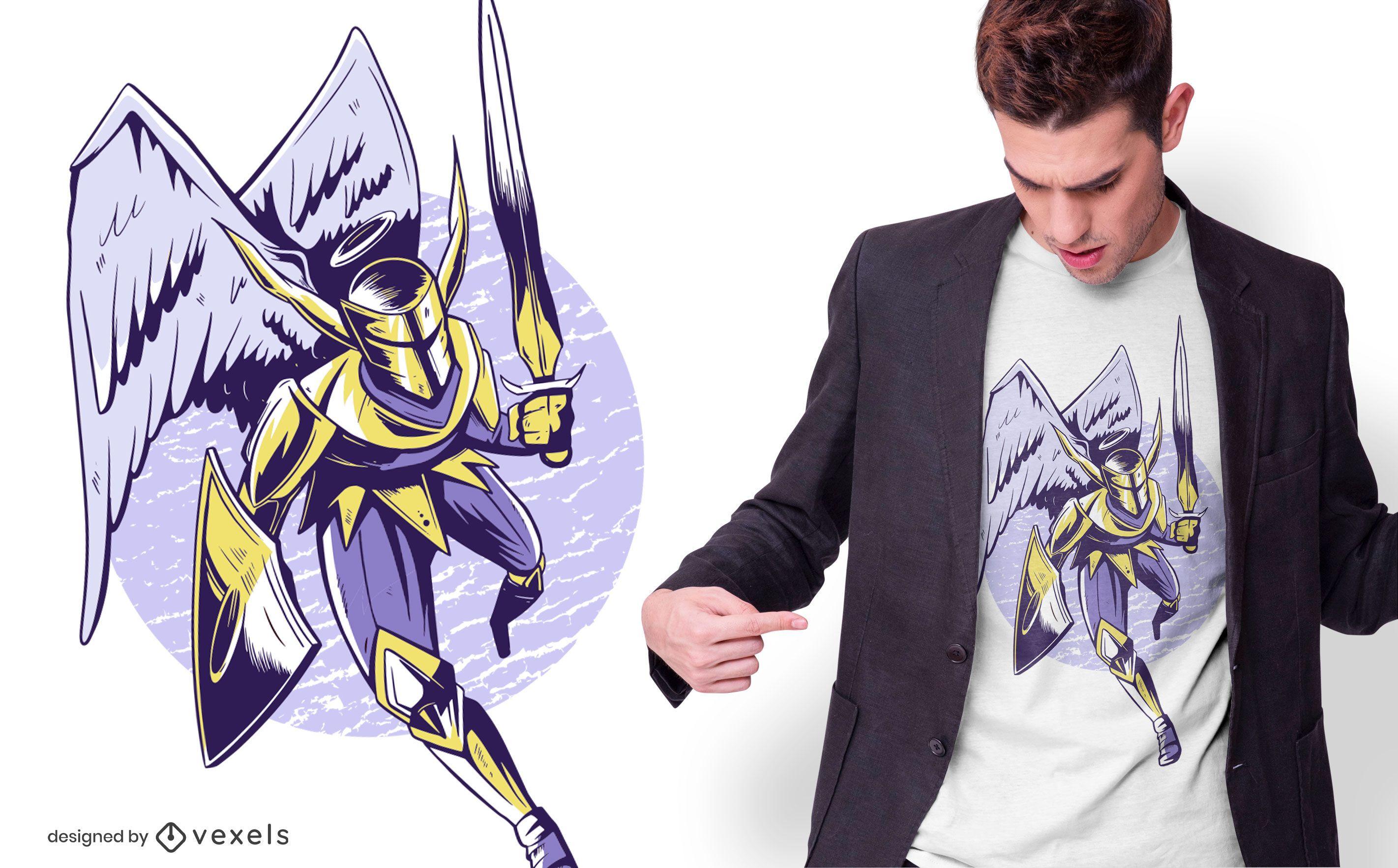 Knight Angel T-shirt Design