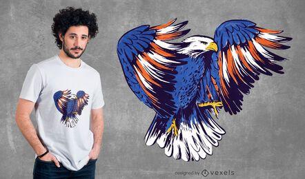 Design de camiseta com ilustração de American Eagle
