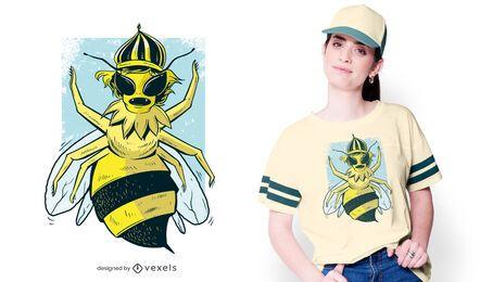 Design de t-shirt de abelha rainha