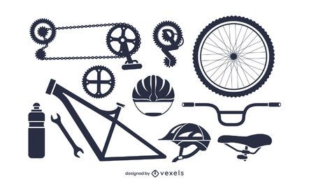 Bike Parts Silhouette Pack