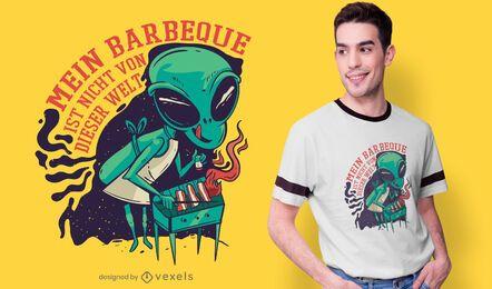 Design alemão do t-shirt do BBQ estrangeiro