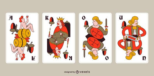 Pacote de cartas de bolota Tarock da Bavária