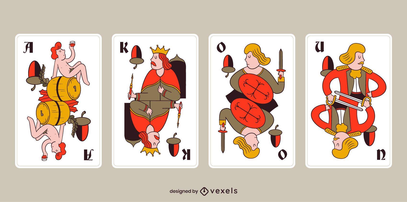 Paquete de cartas de bellota tarock bávaro