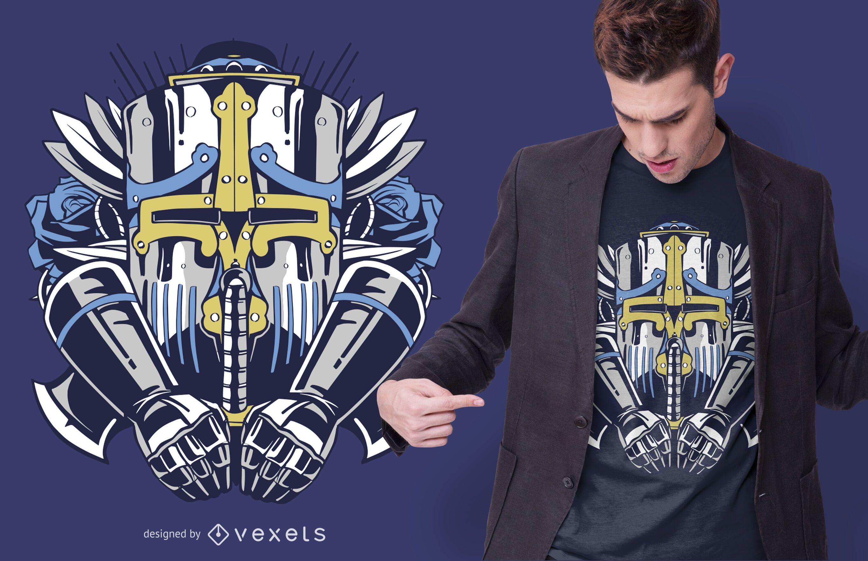 Giant robot t-shirt design