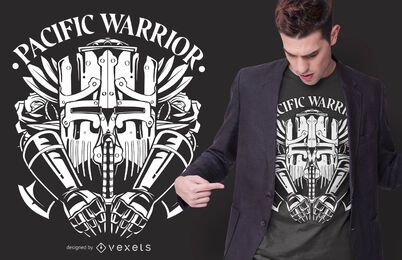 Diseño de camiseta de Pacific Warrior
