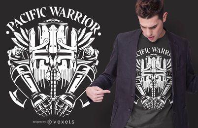 Projeto pacífico do t-shirt do guerreiro