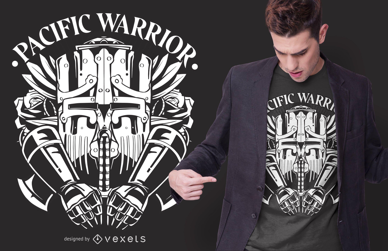 Pacific Warrior T-shirt Design
