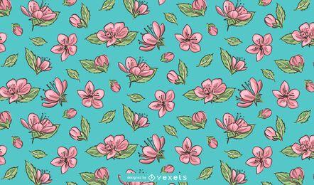 Diseño de patrón de flor de Sakura