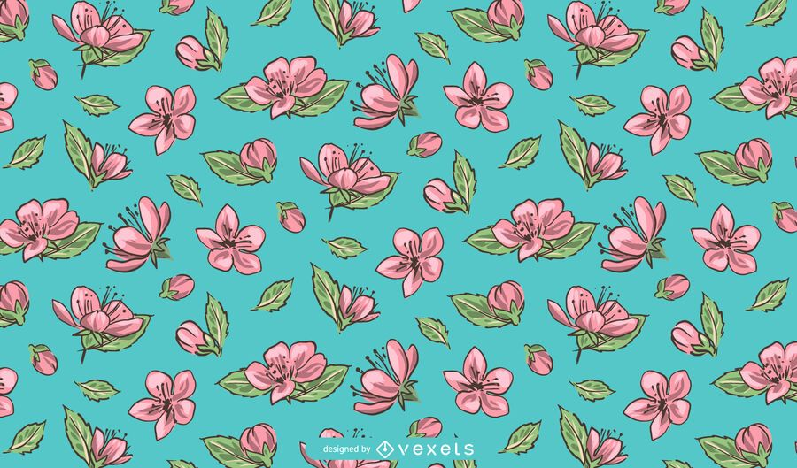 Sakura Flower Pattern Design