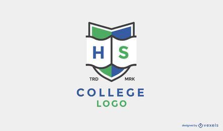 Design de logotipo de escudo do ensino médio