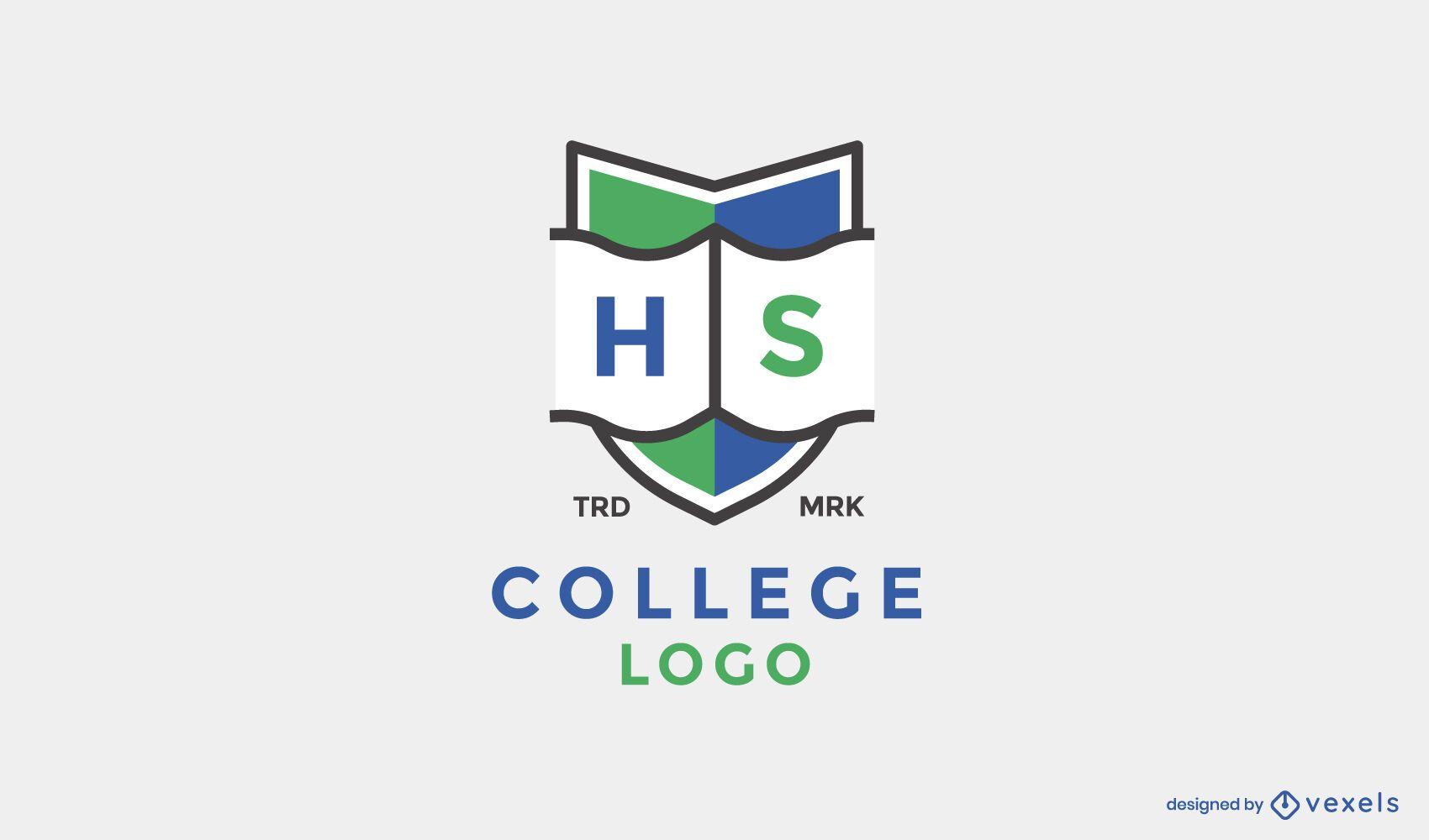 Diseño de logotipo de escudo de secundaria