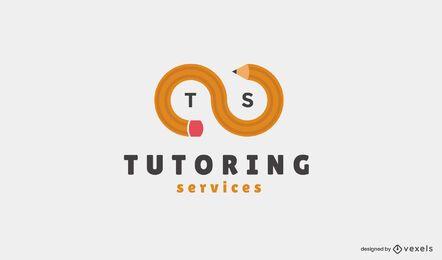 Design de logotipo de serviços de tutoria