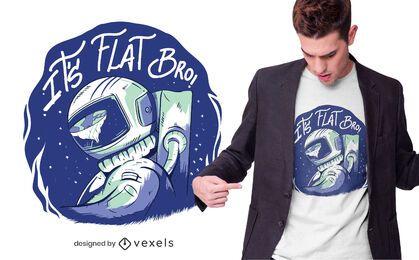Design de camiseta plana