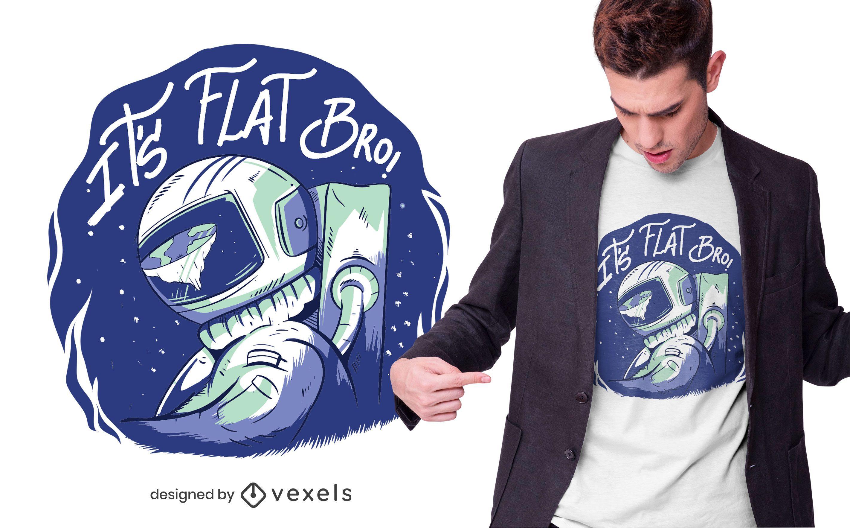Flache Erde T-Shirt Design