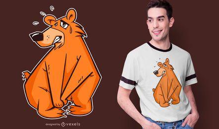 Diseño de camiseta Bear orinar