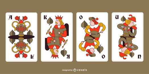 Bavarian Playing Cards Leaf Pack
