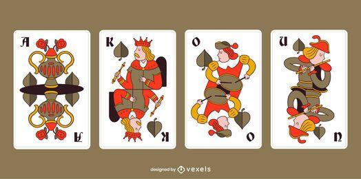 Pacote de folhas de cartas de baralho da Bavária