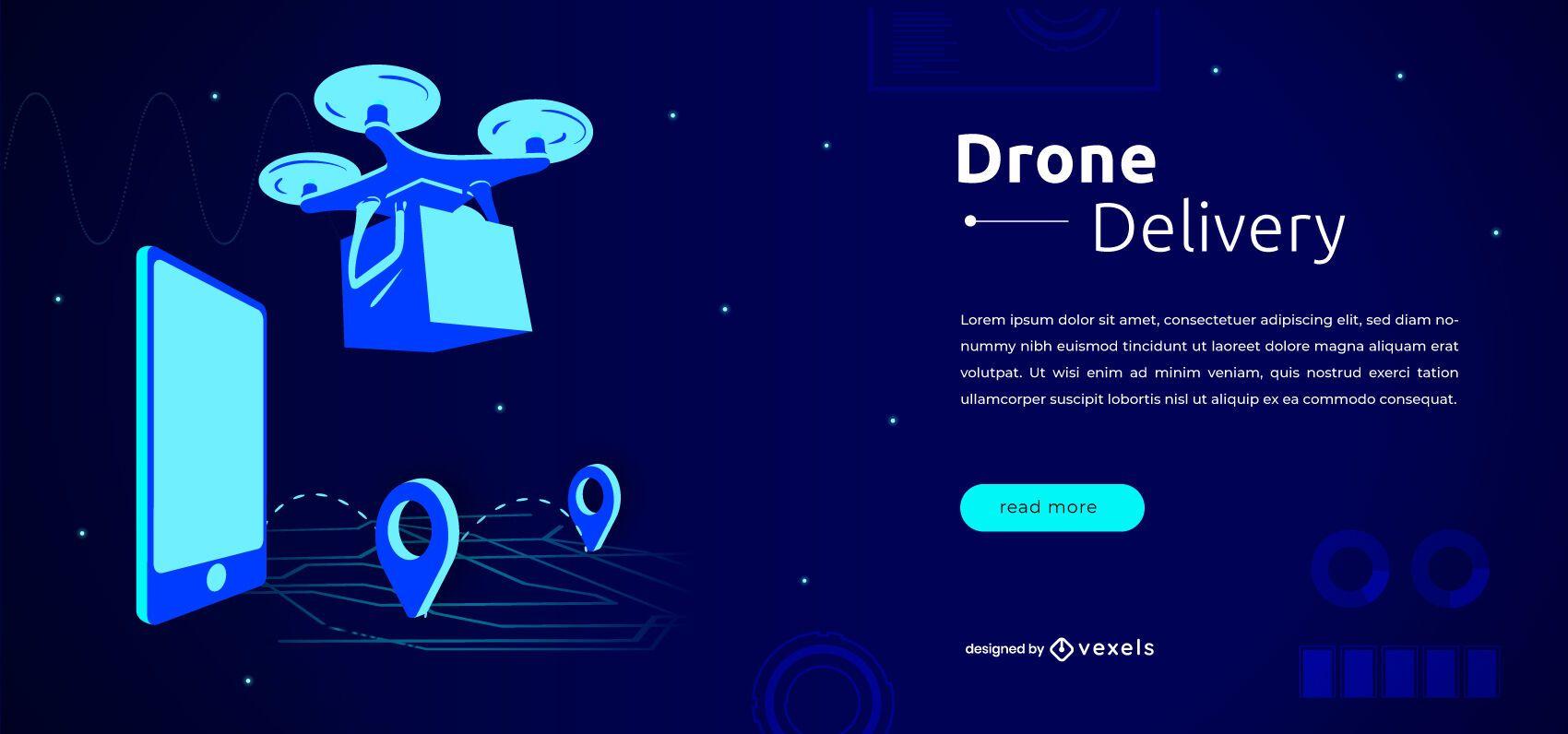 Plantilla de control deslizante de drone