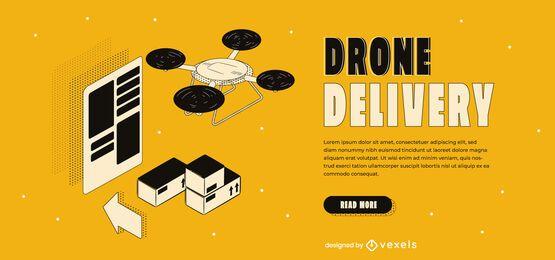 Schieberegler für die Lieferung von Drohnen
