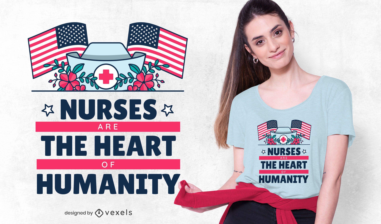 Nurses lettering t-shirt design