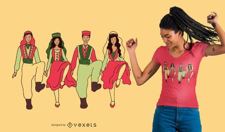 Diseño de camiseta de baile Dabke