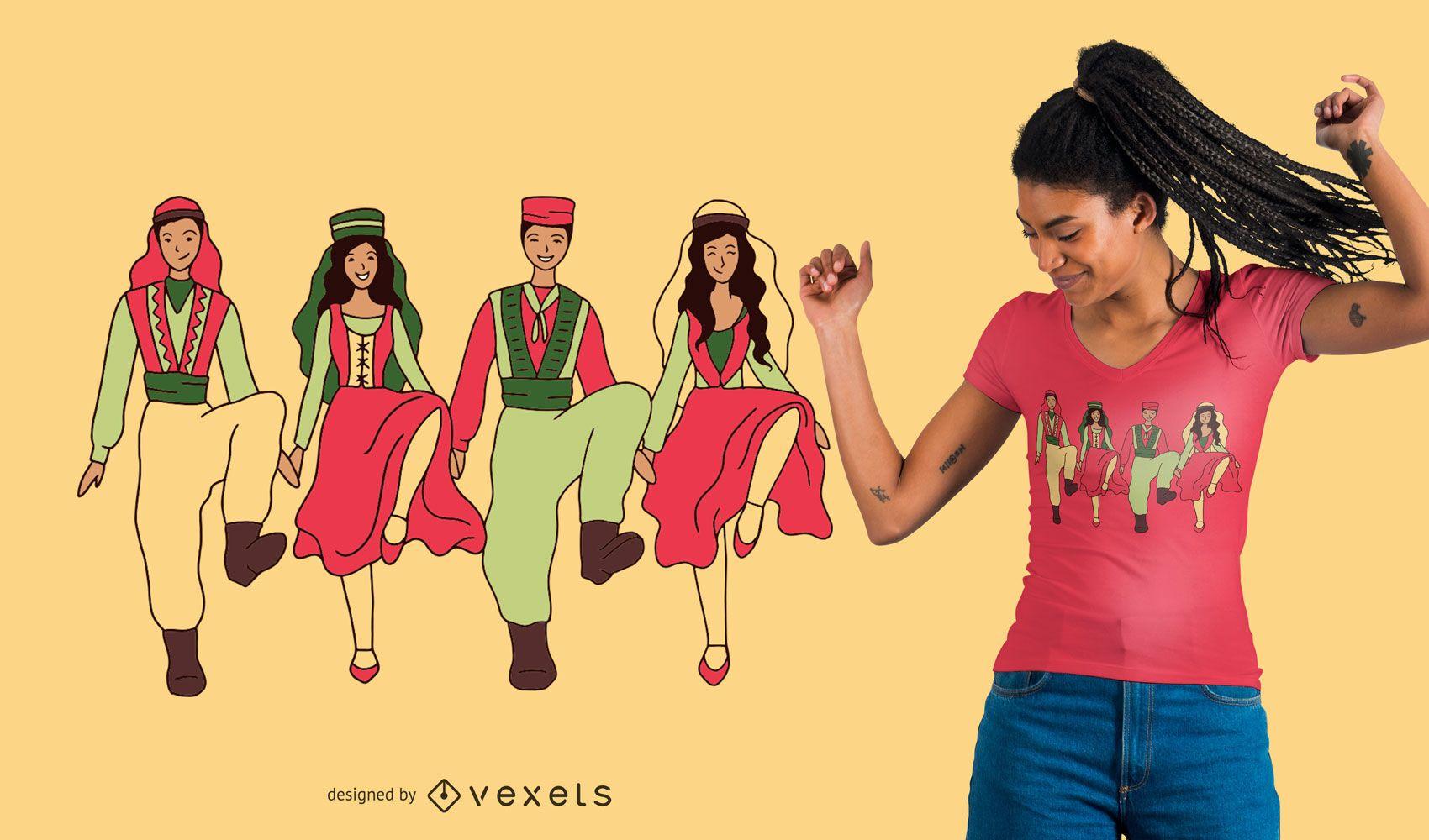 Dabke dance t-shirt design