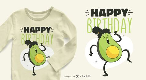 Avocado birthday t-shirt design