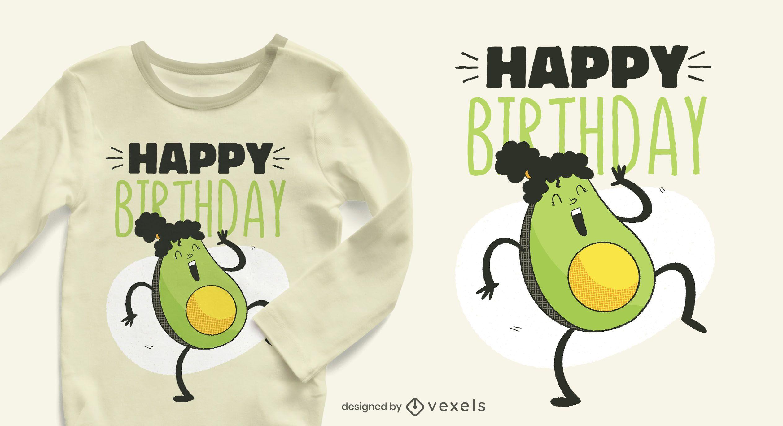 Avocado birthday t-shirt design